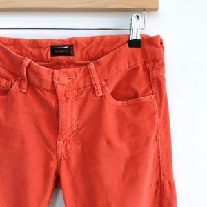 MOTHER The Looker Cords in Orange - size 27